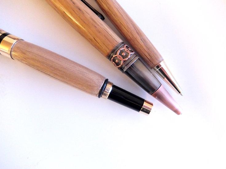 Wooden Handcrafted Art Deco Ballpoint Penn