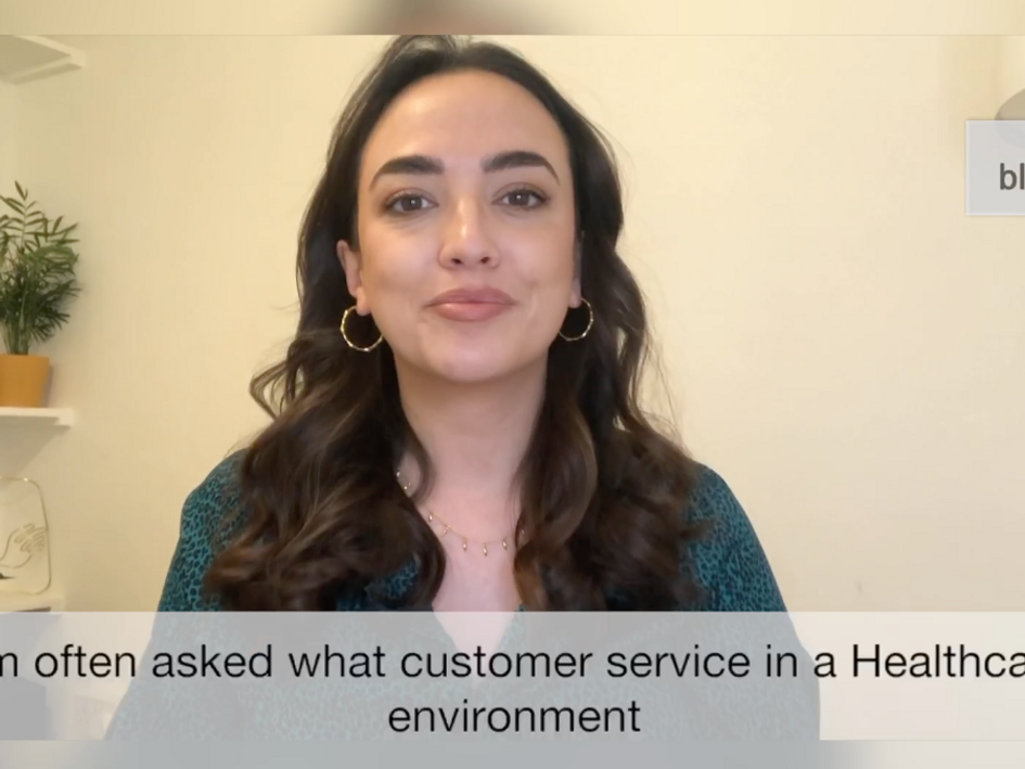 What does customer service mean for patients of an online healthcare service?