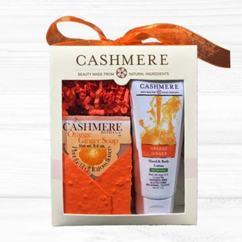 Orange Ginger soap and lotion gift set by Cashmere Bath Co.