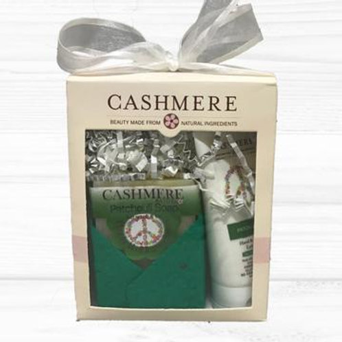 Patchouli soap and lotion gift set by Cashmere Bath Co.