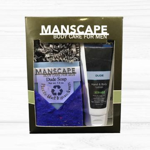 Manscape Dude soap and lotion gift set