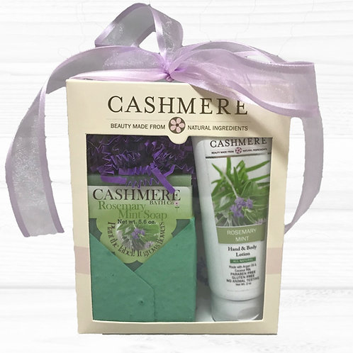 Rosemary Mint soap and lotion gift set by Cashmere Bath Co.