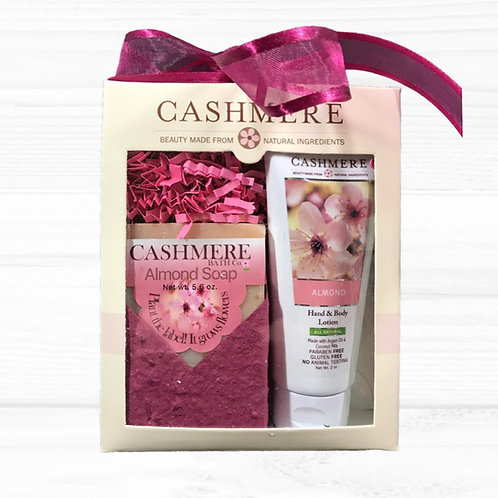Almond soap and lotion gift set by Cashmere Bath Co.