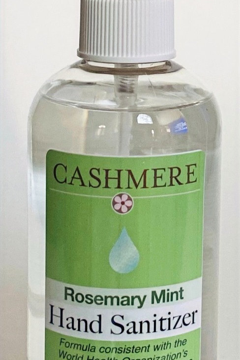 Rosemary Mint hand sanitizer by Cashmere Bath Co.