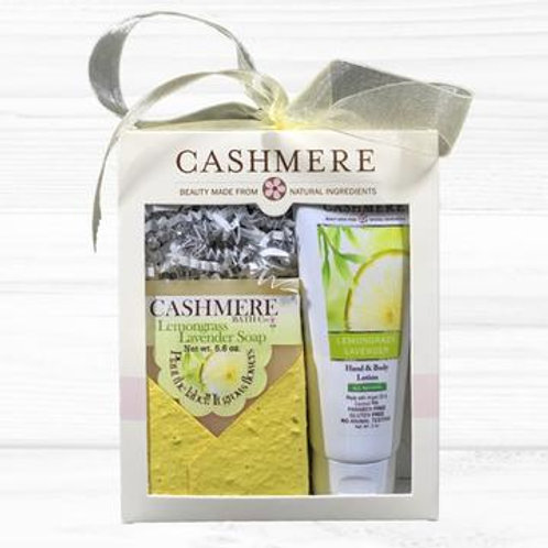Lemongrass Lavender soap and lotion gift set by Cashmere Bath Co.