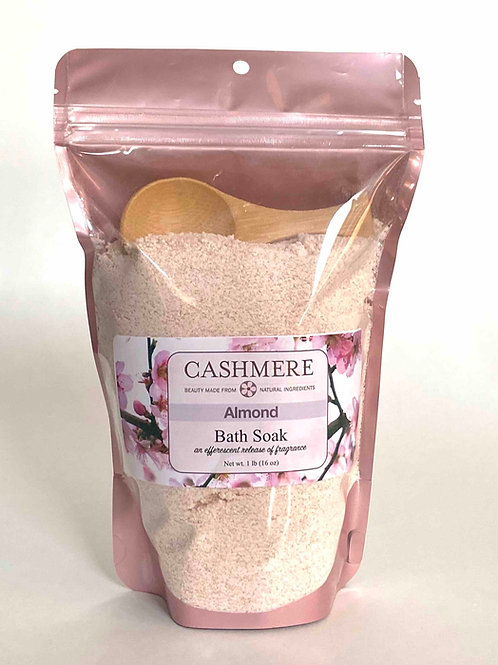 Almond bath soak by Cashmere Bath Co.