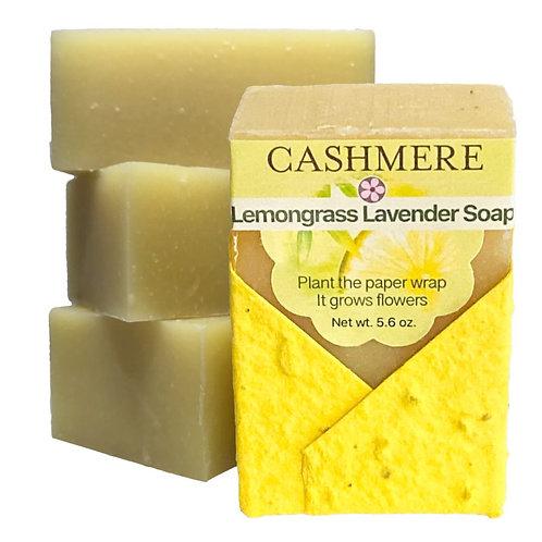 Lemongrass soap by Cashmere Bath Co.