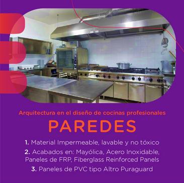 Arquitectura en el diseño de cocinas profesionales
