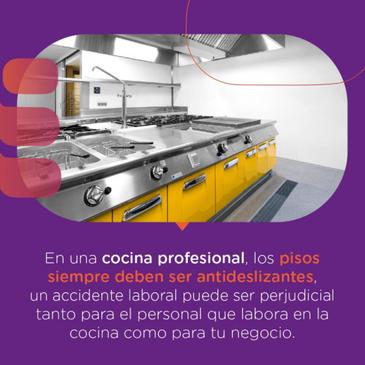 ¿Qué tipo de pisos deben usarse en una cocina profesional?