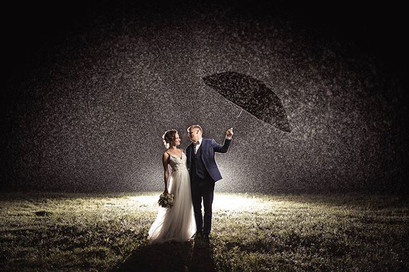 No rain, no storm can harm true love. #w