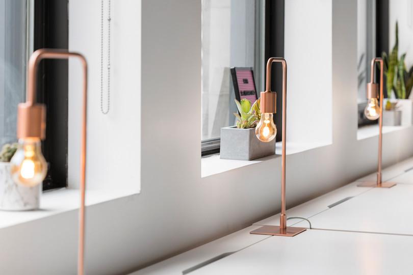 Lampy zaprojektowane Tabela