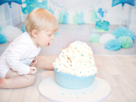 Riley's Cake Smash Photo Shoot- St. Helens, Merseyside , UK