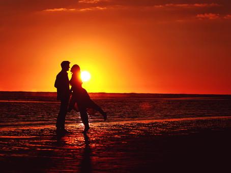 Engagement Sunset Photo Shoot, Crosby Beach, Merseyside