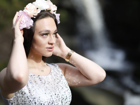 Princess Photo Shoot at Fairy Glen, Waterfall, Apple Bridge