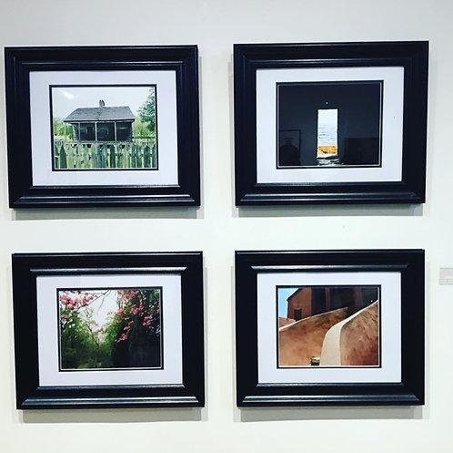 Matted and Framed Color Digital Photographs