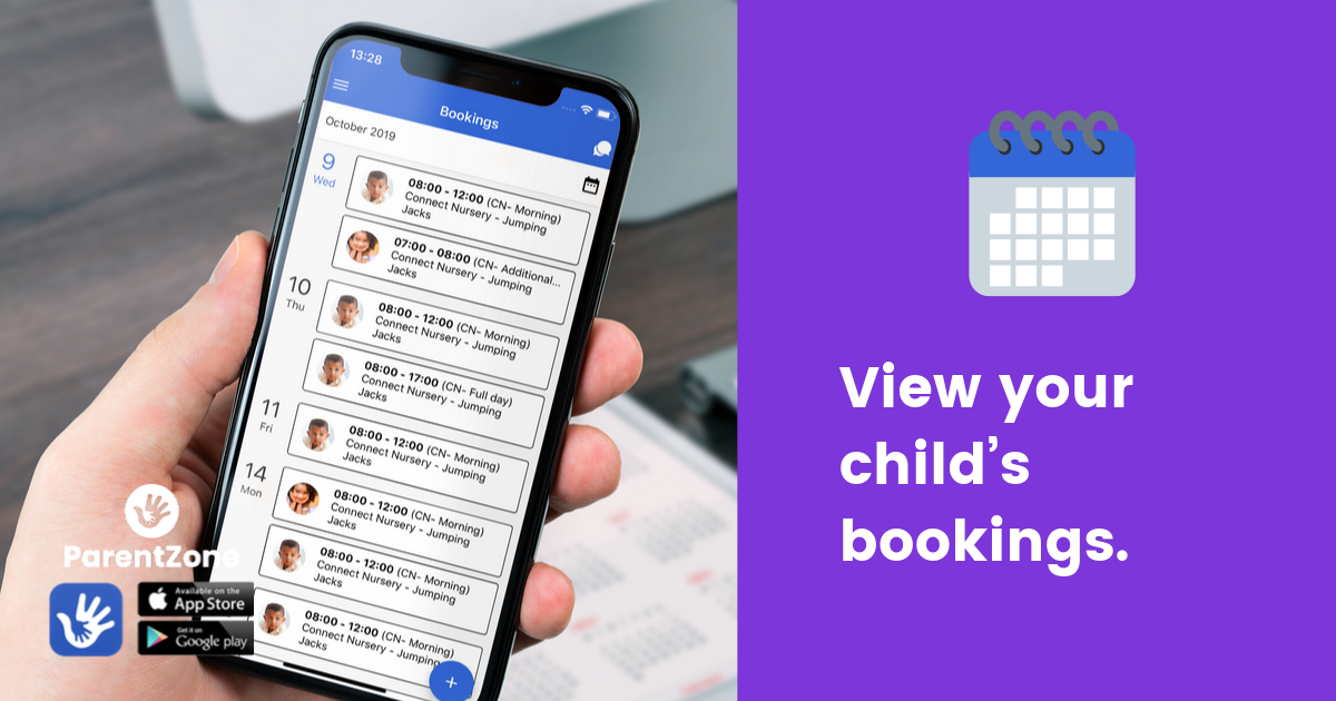 View your child's bookings