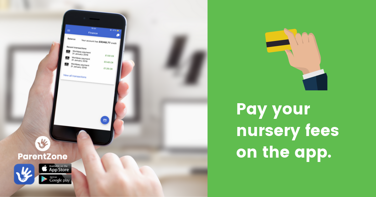 Pay your nursery feed on the app