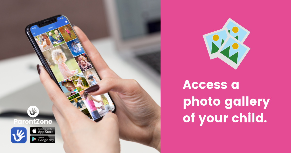 Access a photo gallery of your child
