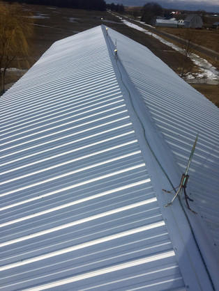 Construction works roofing