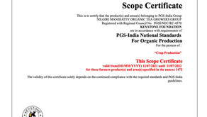 ORGANIC CERTIFICATION FOR TEA STUDIO TEAS