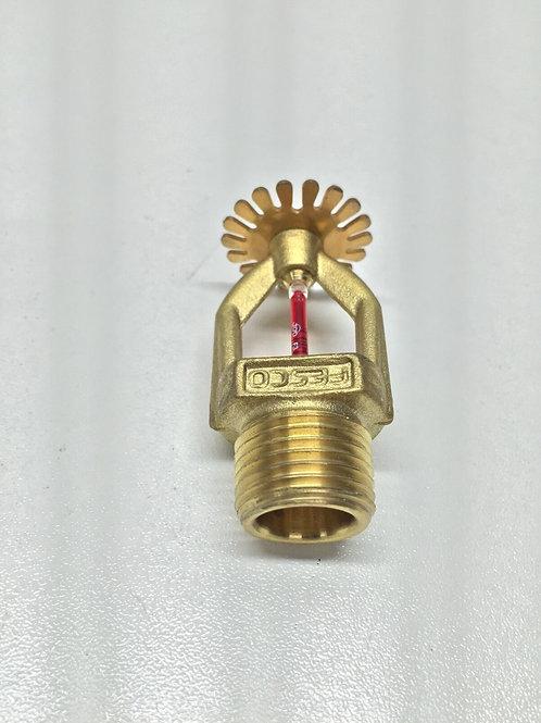 """Fire Sprinkler Head Brass Pendant 1/2"""" 15mm 68deg Fast Response UL/FM"""
