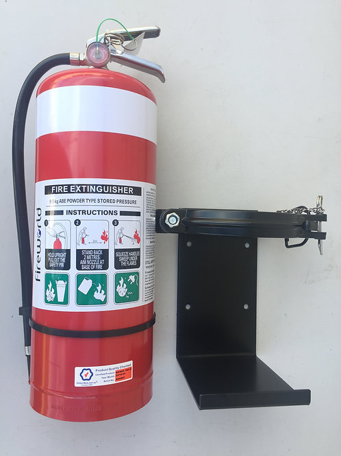Fire Extinguisher 9kg ABE Powder & Heavy Duty Vehicle Bracket