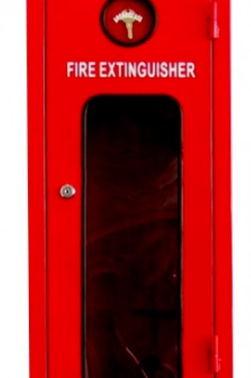 Fire Extinguisher Metal Cabinet Cupboard Suit 4.5-9kg or 3.5kg Co2 Red 003 Key L