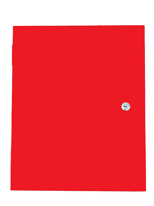 Documents Cabinet Storage Cabinet Wall Mounted Information Box Red Metal 003 Key