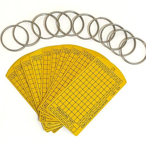 10 x Maintenance Tag & Ring