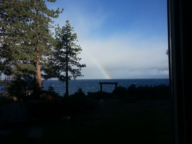 Rainbow over Lake Tahoe