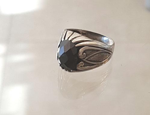 Onyx gemstone ring,Gemstone ring,925 silver ring ,Onyx ring