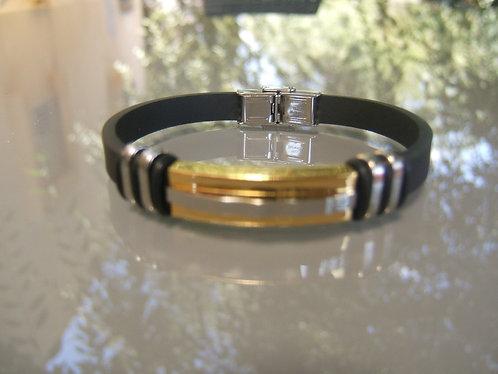 Stainless Steel  plate men's bracelet