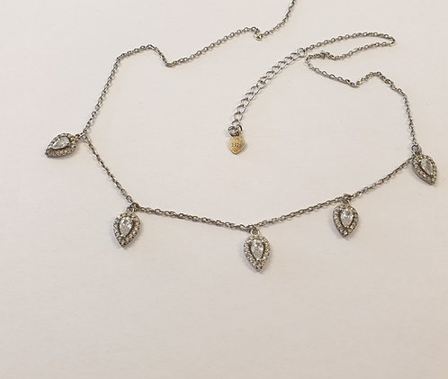 925 Silver neacklac, Drop Charms Necklace ,Silver necklace