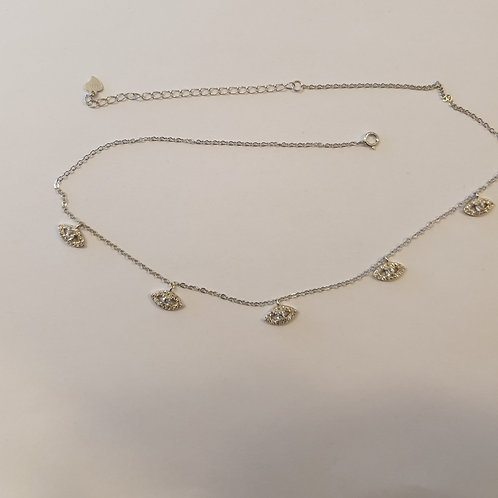 Evil Eye 925 Silver neacklac, Eye Charms Necklace ,Silver necklace