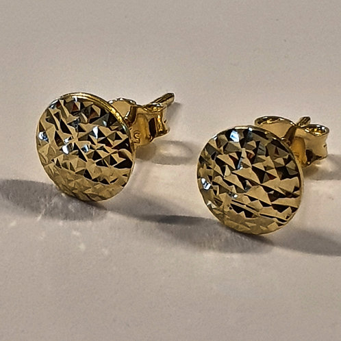 Gold 14k earrings , Gold earrings , Round earrings, Gold jewelry