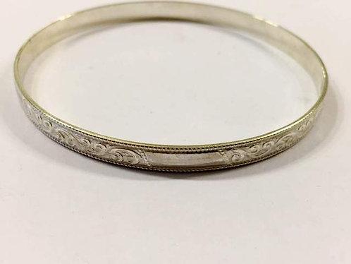 silver hoop bracelet  ,925 silver Moroccan bracelet, silver jewelry