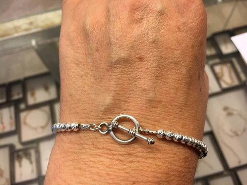 Balls bracelet, Sterlling silver bracelet , Beaded bracele