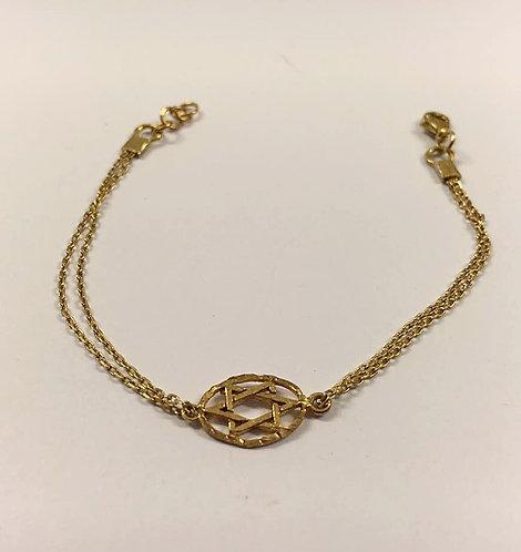 Star of david bracelet ,gold-filled bracelet