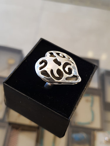 Silver ring,Heart ring, Handmade designed ring, Silver 925 sterling