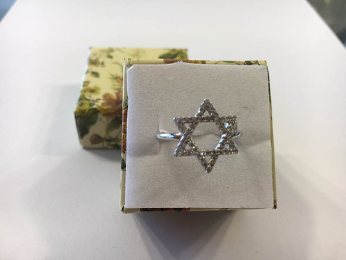 Star of david silver ring,Silver ring, Gift ring, Silver 925 sterling ring