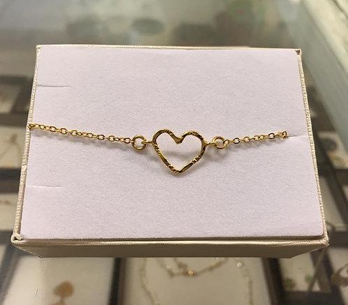 Heart bracelet , gold-filled bracelet , Gift for her, girls bracelet