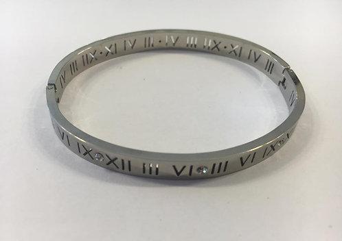Stainless steel hoop bracelet for men