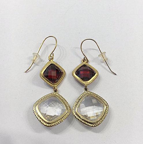 Goldfield earrings , Dangle earrings , Geometric earrings