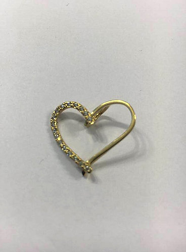 Valentine's Day Gift  ,Gold pendant ,Heart pendant ,Gift for her , Gold jewelry