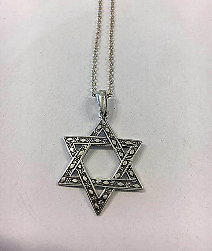 Silver pendant , Star of david pendant, star of david jewelry