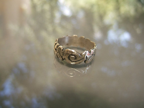 Sculpted silver ring, Wedding & Engagement Ring, Gift ring, Unique ring,Silver 9
