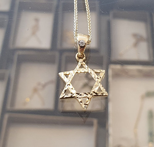 Star of David necklace  , Gold Star of necklace , Bar mitzvah gift