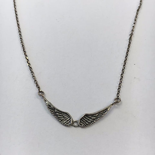 Silver wings pendan , Men necklace , Men jewelry,Silver 925