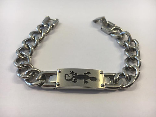 Stainless steel Gormet bracelet with gecko