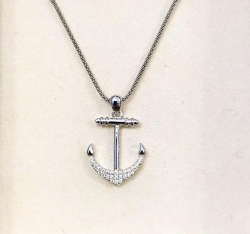 Men necklace , Men jewelry, Ancor pendant, Silver 925 Ancor